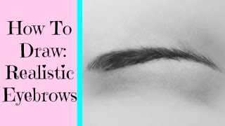 How To Draw Realistic Eyebrows With Pencil
