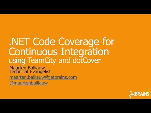 .NET Code Coverage for Continuous Integration using TeamCity and dotCover