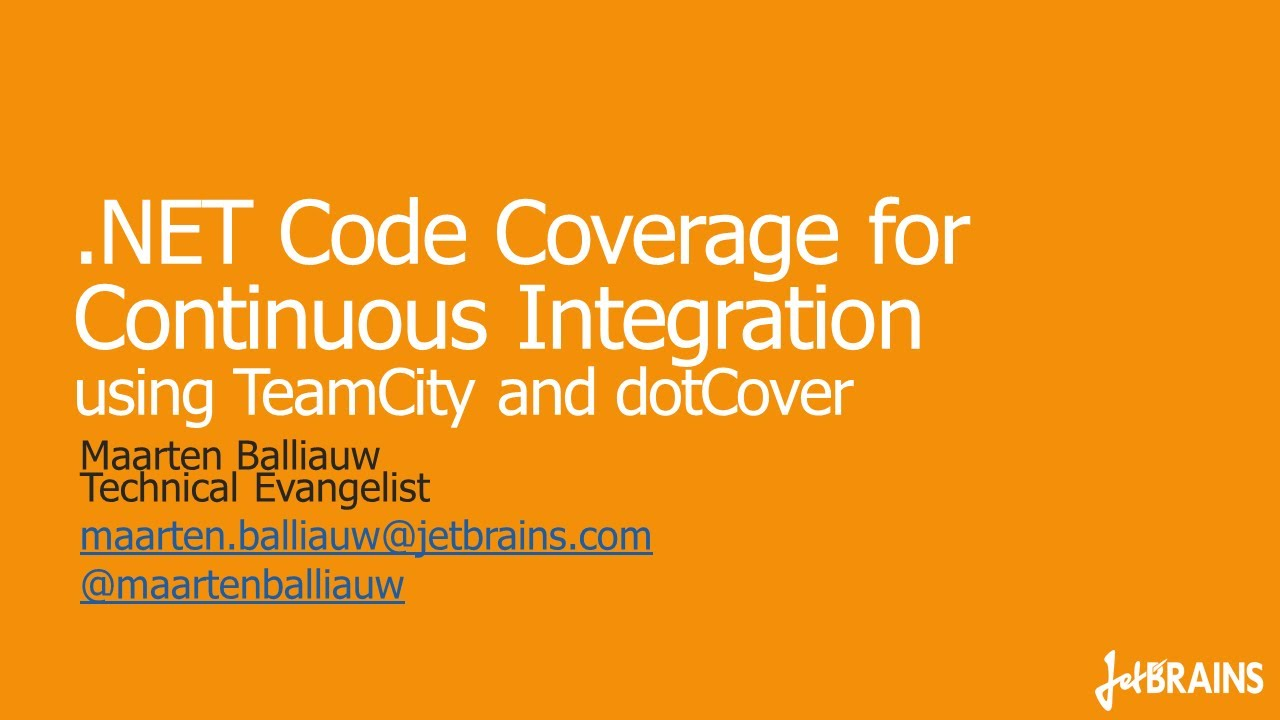 NET Code Coverage for Continuous Integration using TeamCity and dotCover