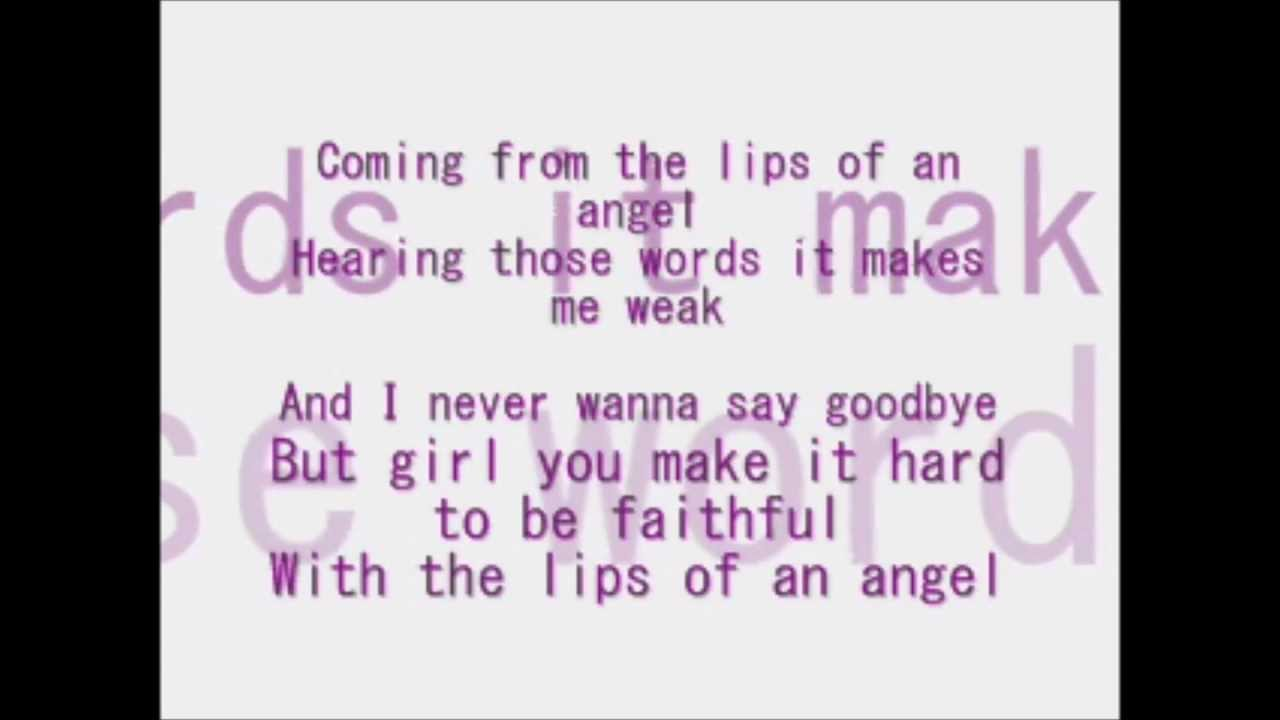 Lips of an angel hinder youtube