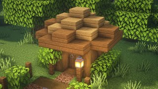 Minecraft Tutorial 3x3 Wooden House Easy #Shorts