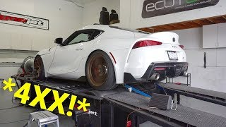 A90 Supra Dyno Makes THIS MUCH POWER With 2 MODS!! *Toyota Lied*