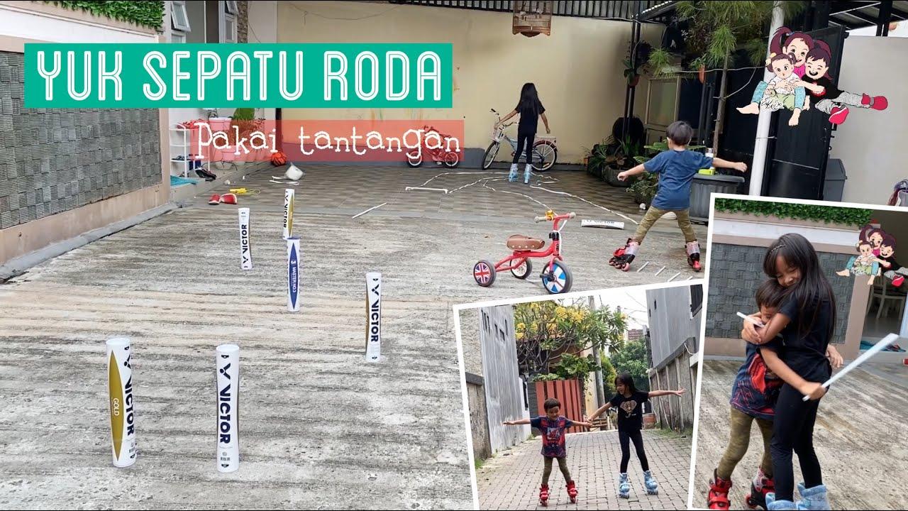 Zara Kenzo main Sepatu Roda dengan Tantangan khas Anak Anak | Kakak Sayang Adik