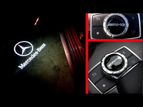 How To Install Door Welcome Logo Lights / Install Wireless Projection Ghost Lights On Mercedes
