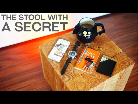 Build Your Own Workshop Stool With a Secret Compartment That Happens to Fit a Beer