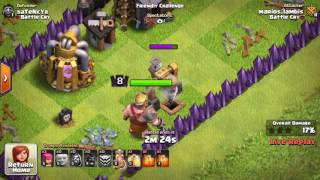 *CLASH OF CLANS* friendly challenge/WRECKED/th10 and th8 gameplay