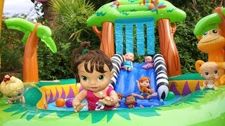 BABY ALIVE Emma Jane Swims With Anna And Elsa Toddlers While Babysitting Baby Alive Cousins!