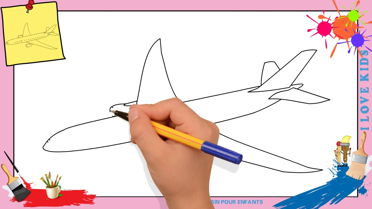 Dessin avion comment dessiner un avion facilement etape - Avion a dessiner ...