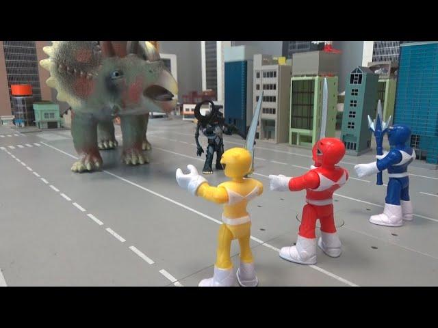 파워레인저 마이티몰핀, 거대 공룡을 막아라! Power Rangers Mighty Morphin, stop the giant dinosaur!