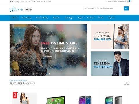 f9944938e Como criar uma loja virtual WordPress com o tema grátis StoreVilla - Aula 2