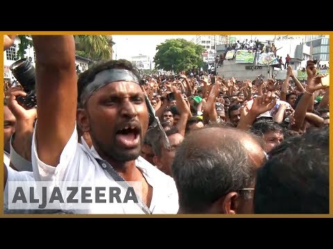 🇱🇰 Thousands rally in Colombo in support of sacked Sri Lanka PM | Al Jazeera English