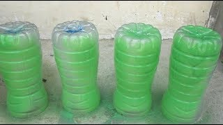 Recycle plastic bottles for kitchen spice vegetable gardening