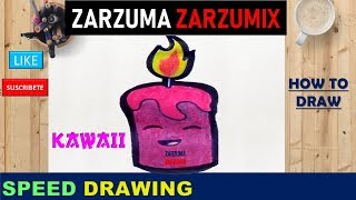 ✍SPEED DRAWING HOW TO DRAW A CANDLE KAWAII STEP BY STEP✍