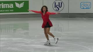 Eugenia NATOLI. Oberstdorf 2018. Silver Ladies IV - Free Skating. 9 place