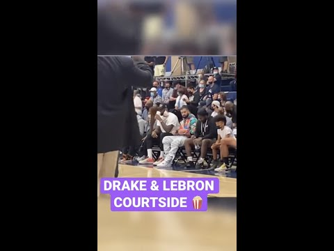 Drake & LeBron James Pulled Up To Watch Bronny Play #Shorts