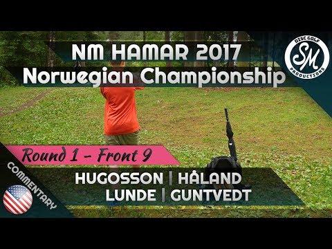 Norwegian Championship 2017 | Round 1 Front 9 | Hugosson, Håland, Lunde, Guntvedt *ENGLISH*