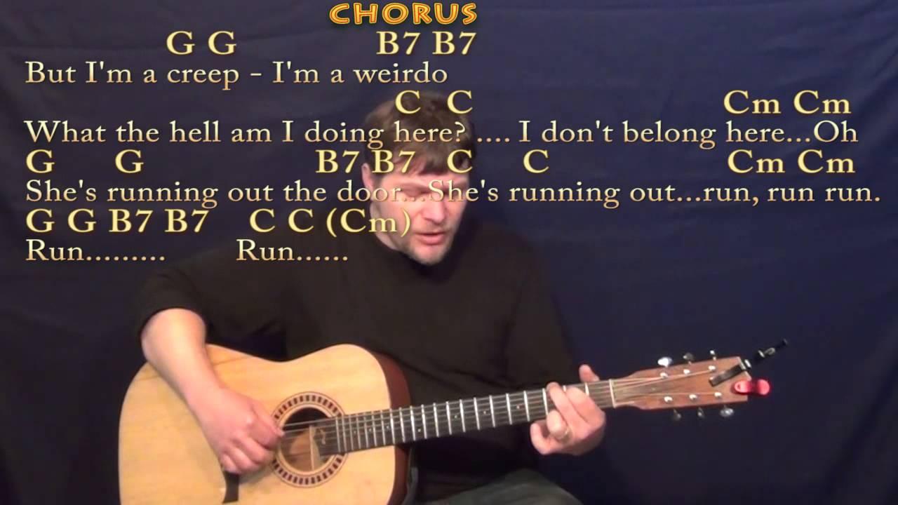 how to play creep on guitar