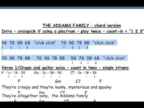 The Addams Family Advanced Guitar Lesson Youtube