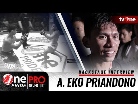 Backstage Interview Sudirman Akbar - One Pride Pro Never Quit #16