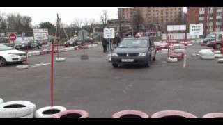 Автошкола Автопилот Мытищи   упражнение Въезд в бокс