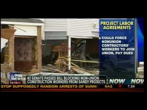 Contractor Discusses Project Labor Agreements (PLAs) on Sandy Reconstruction 1/18/13