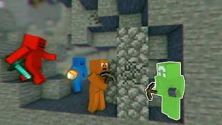 Minecraft Survivalist VS 3 Hitmen