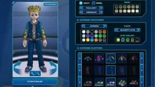 FusionFall Character Creation