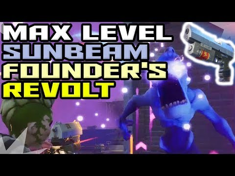 Max LvL Sunbeam Founder's Revolt - Unique Founders Option - Fortnite Save The World