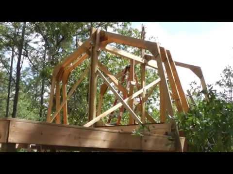 Raising Homemade Gambrel Barn Trusses By Yourself No