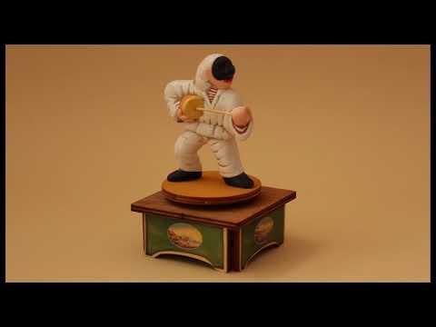 Carillon da collezione in legno - Pulcinella e Caccavella, Melodia: SANTA LUCIA
