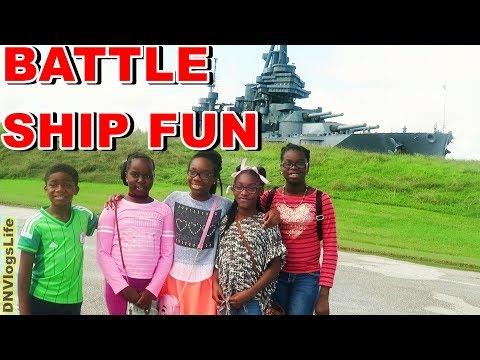 Visiting San Jacinto Battleship Texas with Friends