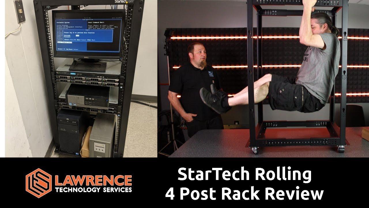 StarTech com 25U Adjustable Depth Open Frame 4 Post Server Rack Cabinet  Review