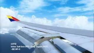 [FS2004/FS9] Asiana B744 Landing @ Changi, Singapore (WSSS)