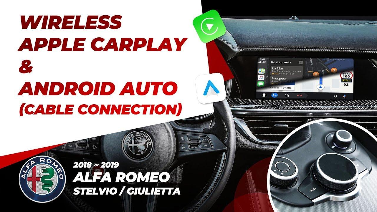 Alfa Romeo Wireless CarPlay & Android AUTO (Stelvio