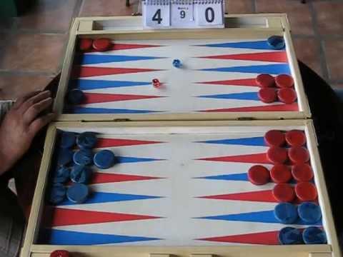 Backgammon Costa Rica Match Mario Madrigal - Alain Esquivel