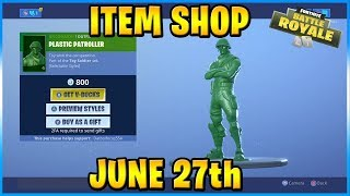 NEW Plastic Patroller and Toy Trooper Skins! | FORTNITE ITEM SHOP TODAY! (June 27th, 2019)