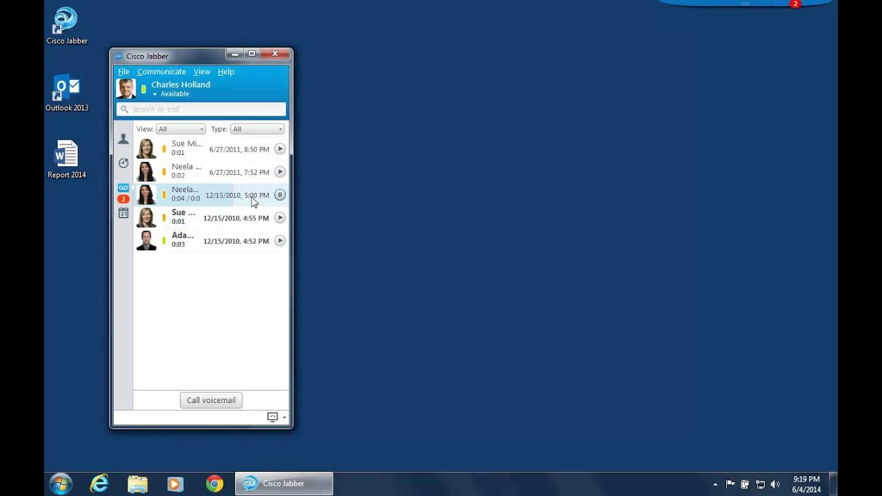 jabber windows voicemail