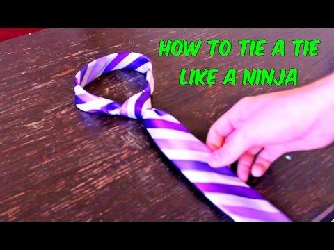 How To Tie Tie Like Ninja