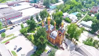 Троицкий храм Пушкино (панорама)
