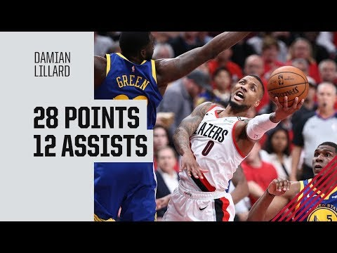 Damian Lillard (28 points) Highlights vs. Golden State Warriors | Game 4, Western Conference Finals