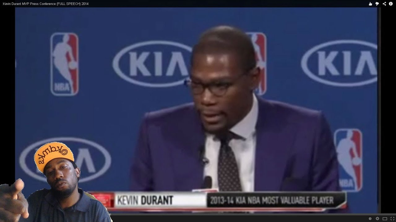 64ef479a41ee Emotional ! Kevin Durant MVP Acceptance speech will bring you to tears MY  reaction (Video link)