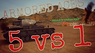 "My last ""Epic lucky"" battle with Panzer IV - 5vs1 - Armored Aces Live - HD Android Gameplay"