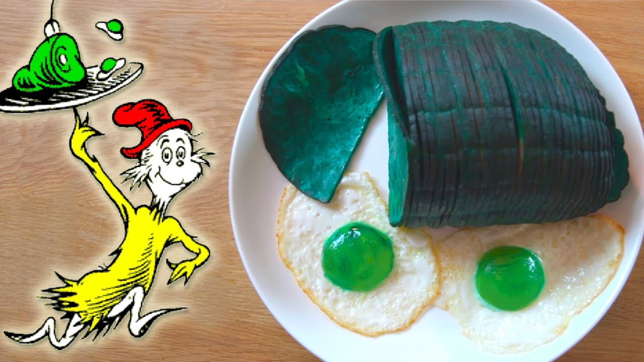 How To Make GREEN EGGS And HAM From Dr Seuss
