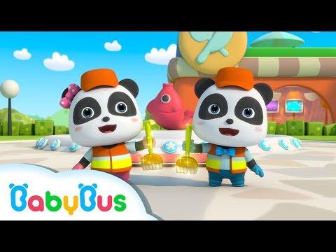 ❤ The Wonderful Cleaners - Clean Up Is Fun  Nursery Rhymes  Kids Songs  BabyBus