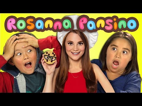 Kids React to Rosanna Pansino (Nerdy Nummies)
