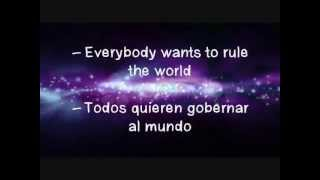 Everybody Wants to Rule the World-Tears for Fears (letra & traducción)