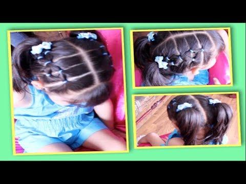 Peinado Con Ligas Para Niñas Facil