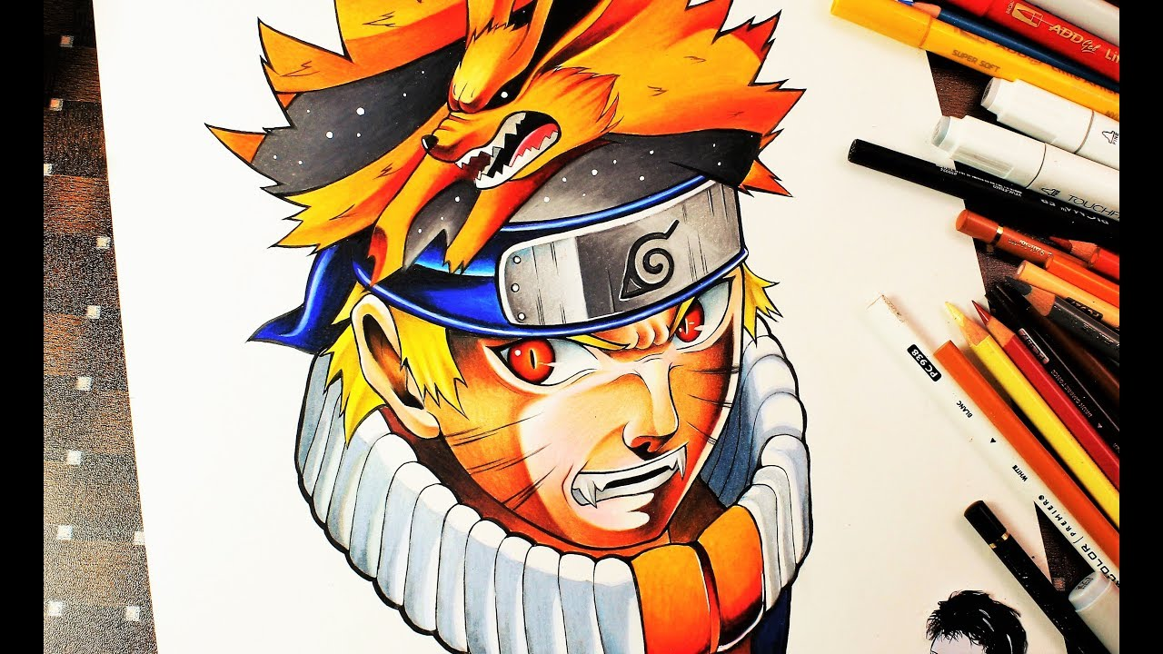 Drawing naruto uzumaki epic pencil art ナルト