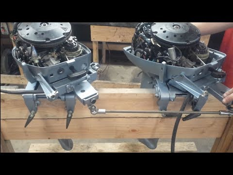 Twin Johnson / Evinrude 15 HP Install Part 1
