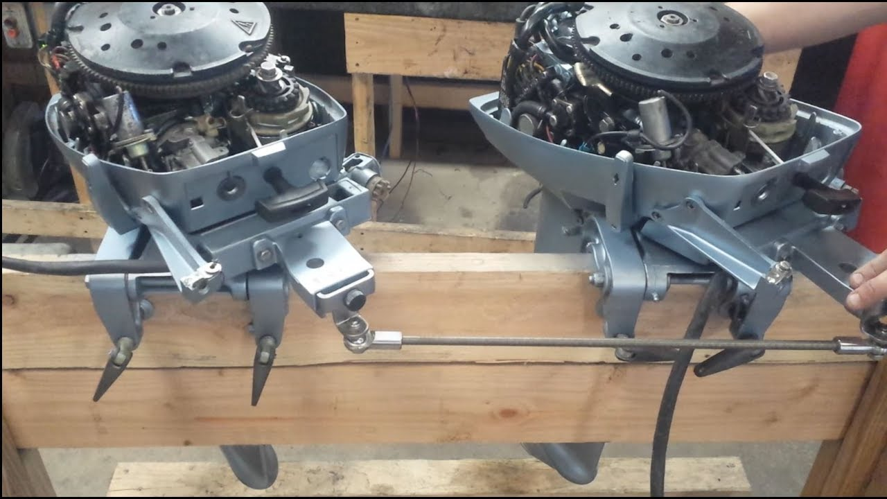 Twin Johnson Evinrude 15 Hp Install Part 1 Youtube